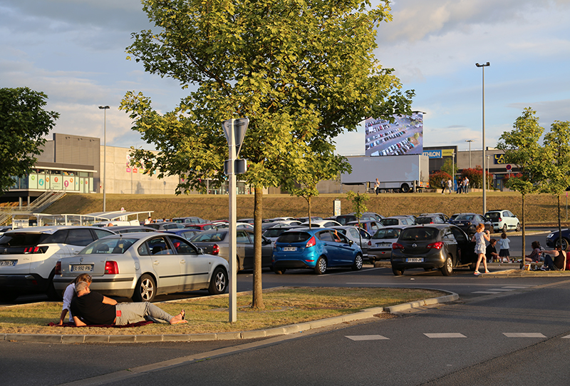 Drive-in cinema de Caudry dans le nord de la France