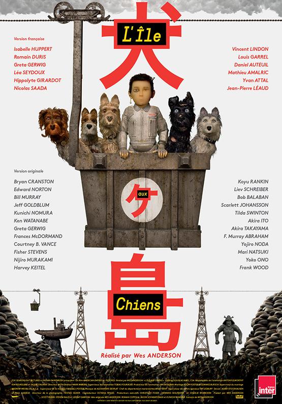 Affiche film l'ile aux chiens